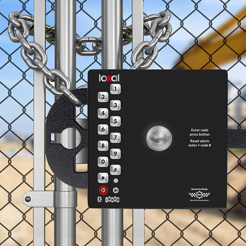 Block Lock securing construction site gates