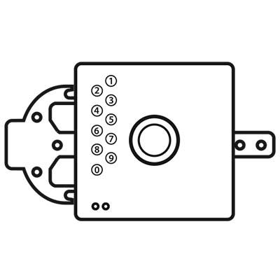 Loxal Block Lock illustration/icon