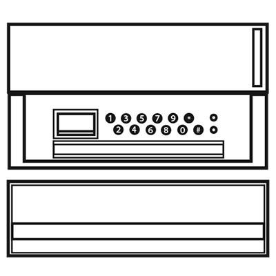 Loxal Letterbox Key Safe illustration/icon