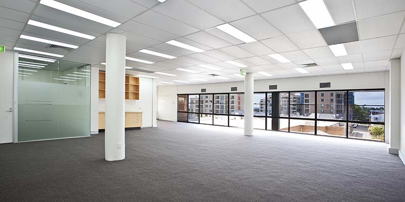 Interior view of empty office